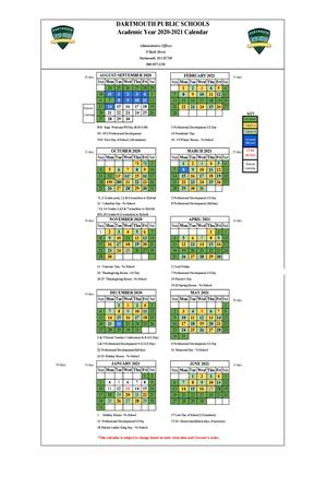 2020-2021 School Calendar Revised 1.6.21