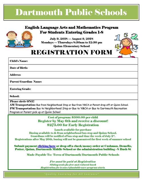 Summer ELA & Math Gr. 1-8 Academic Program