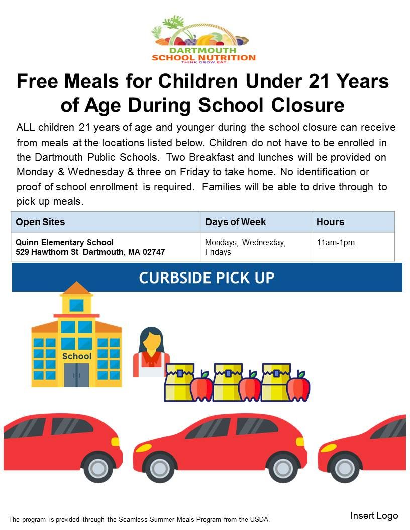 Meal Program Curbside pick up
