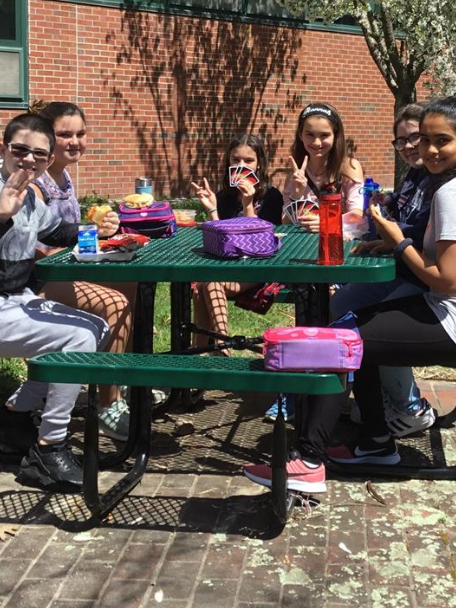 middle school lunch table.  Table Lunch Outdoors Throughout Middle School Table